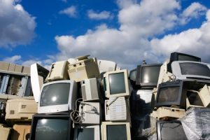 21989316 - modern electronic waste for recycling or safe disposal, any logos and brand names have been removed. great for recycle and environmental themes.